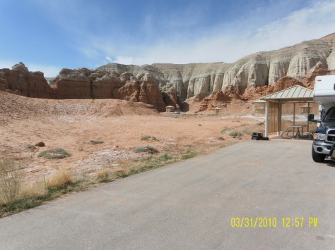 Campground in Goblin Valley State Park, Utah