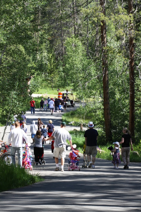 Bike Parade at Lodgepole Campground