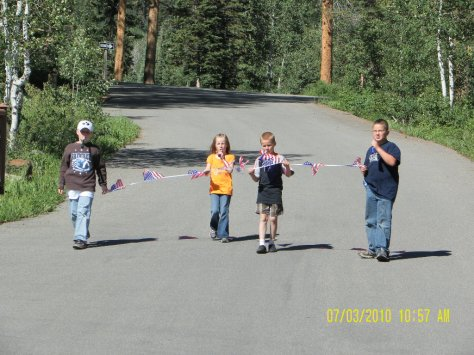 Lodgepole Parade Flag Team