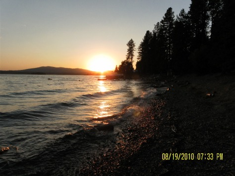 Sam Owen Campground Sunset - Lake Pend Oreille