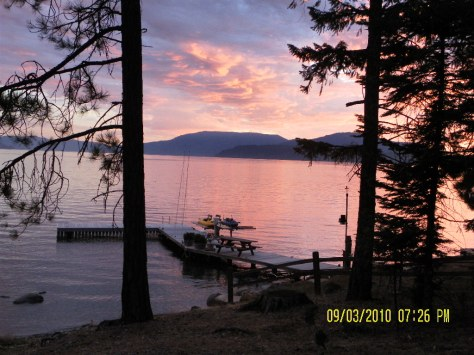 Pink Sunset - Lake Pend Oreille