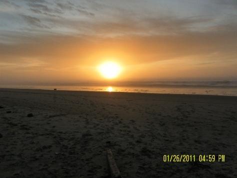 Sunset on Tillicum Beach