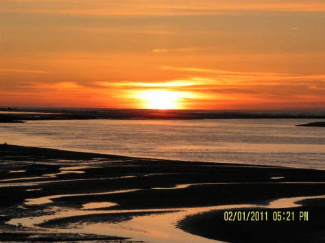 Alsea Bay Sunset at Low Tide