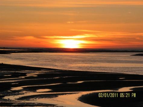 Alsea Bay Sunset at Low Tide