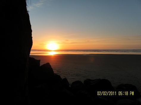 Tillicum Beach Low Tide Sunset