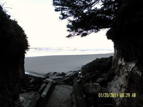 Tillicum Beach Stairway - north end