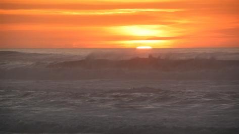 Foggy Sunset at Tillicum