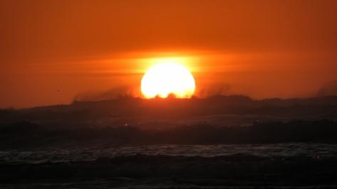 Windy Winter Solstice Sunset - Tillicum Beach
