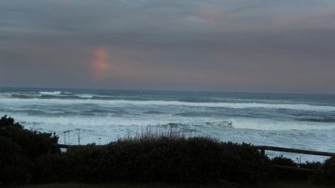 Rainbow over Ocean at Tillicum Beach