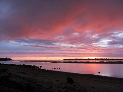 Spring Break Sunset over Alsea Bay
