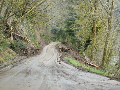 Mudslides on Canal Creek Rd