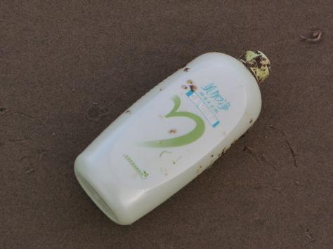 Japanese Tsunami Debris - Lotion Bottle