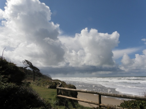 Cumulus Clouds over Tillicum Campground and Beach