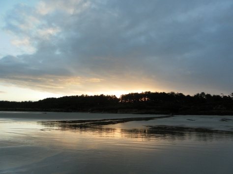 Tillicum sunrise from low tide