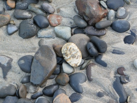 Some rocks are fully exposed