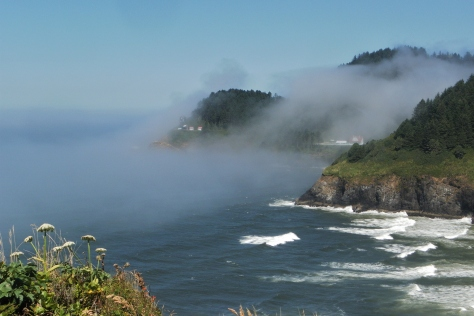 Heceta Lighthouse in the Fog