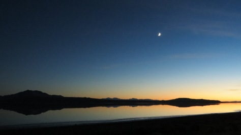 Antelope Island Moon Sunset
