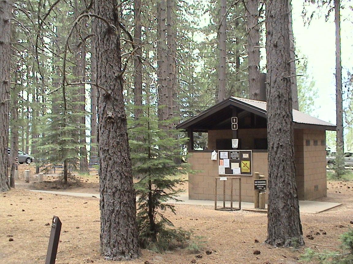 Ponderosa restroom pamperingcampers blog for Ponderosa cabins california