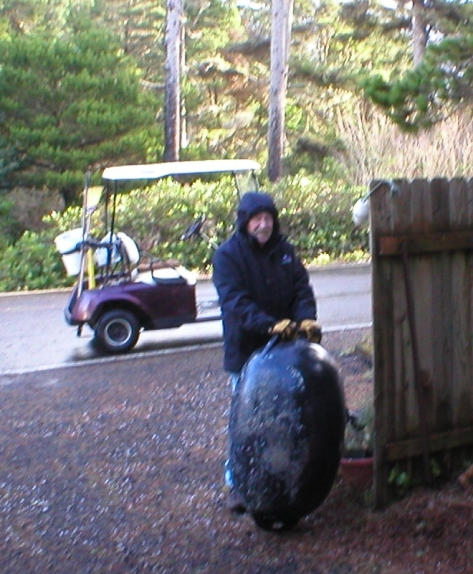Black float found on Tillicum Beach