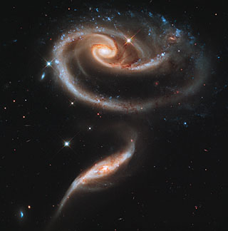 Hubble Image - a rose made of galaxies