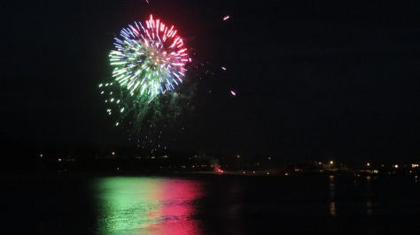 Fireworks light up the Bay