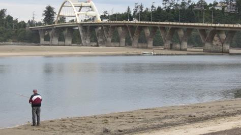 Easy Access to Fishing Alsea Bay Shoreline