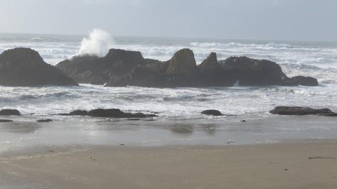 seal rock - big waves
