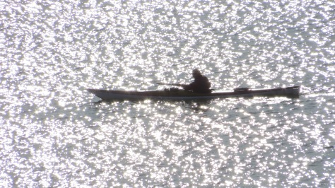 Kayaker on Yaquina Bay