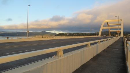 looking east from alsea bay bridge